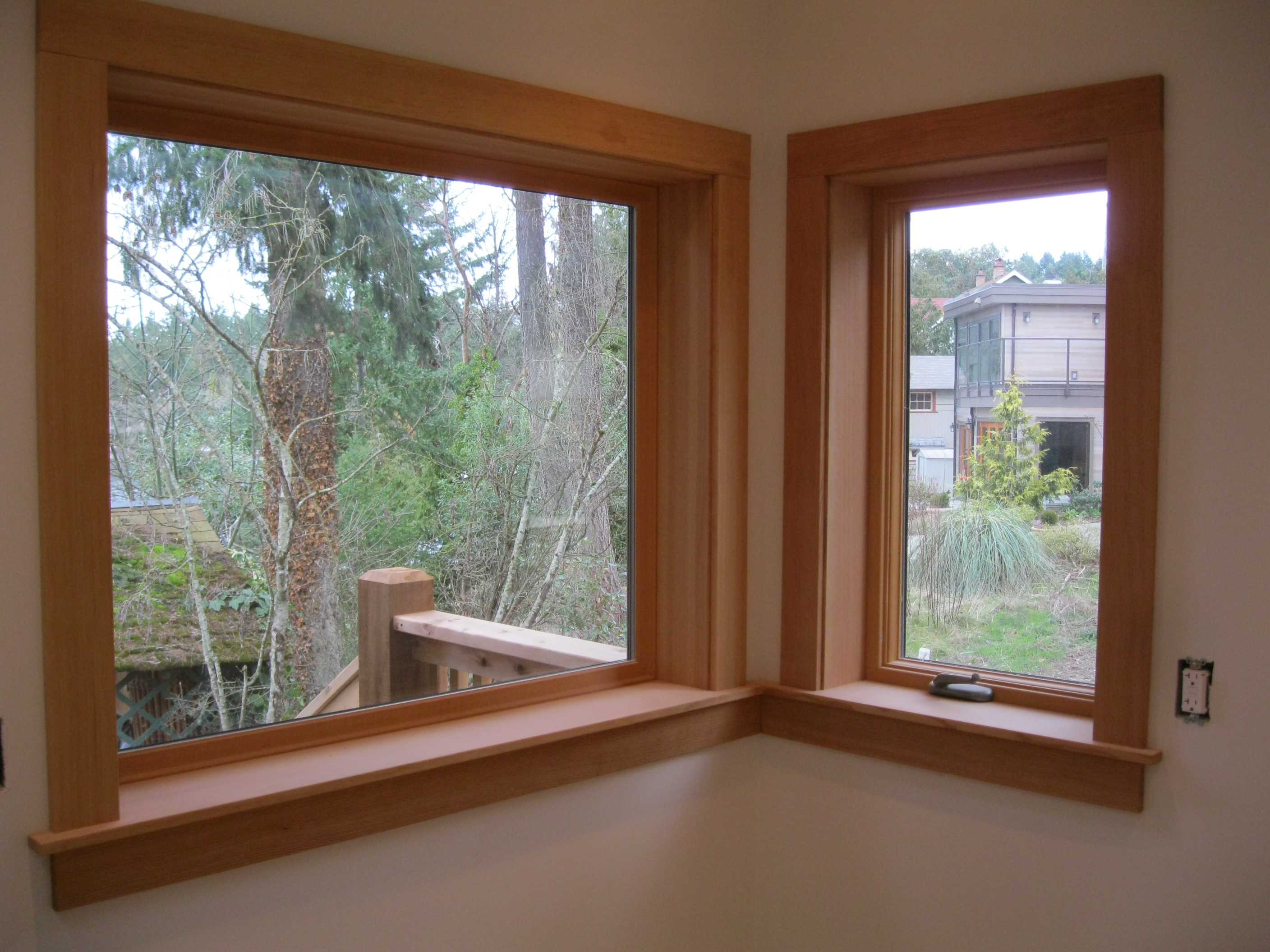 Finish carpentrysequoia pacific for Interior windows